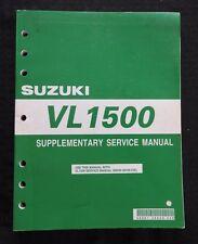 2005 SUZUKI VL1500 1500 MOTORCYCLE OWNER'S SERVICE MANUAL SUPPLEMENT CLEAN