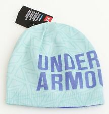 Under Armour Coldgear Graphic Green Knit Beanie Youth Girl's One Size NWT