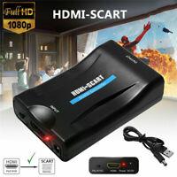 Scart zu HDMI Konverter Adapter Wandler Video Audio TV DVD + USB Kabel 1080P