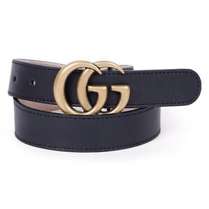Gucci Kids Navy Blue Leather Belt 4-8 Years BNWT £145