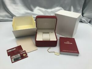 Genuine OMEGA Empty Watch Box Case Booklet Warranty Tag Red 210416004 A310
