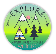 Explore Adventure Outdoors Car Vinyl Sticker Decal Sticker for Auto Cars Laptops