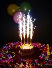 BIRTHDAY WEDDING CAKE SPARKLERS PARTY SPARKLING CANDLES HIGH QUALITY 8'' LARGE