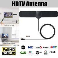 Indoor TV Antenna Digital HDTV 25 Miles Range TV Receiver DVB-T2 Aerial VHF UHF+