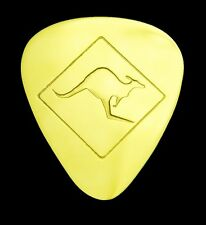 KANGAROO  CROSSING -Solid Brass Guitar Pick,Acoustic,Electric,Mandolin,Bass