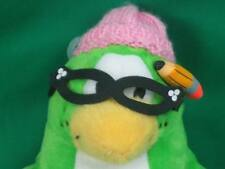 CLUB PENGUIN TEACHER PINK HAT DISNEY NO CODE PLUSH SMALL GREEN GLASSES TOY