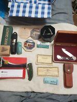 N.O.S. LOT KNIFE KNIVES SPYDERCO / BUCK USA / SCHRADE USA / CASE XX BONUS