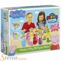 Peppa Pig Softee Dough Mould N Play 3D Figure Maker Playset 5 Tubs & Cutters