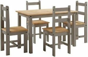 Mercers Furniture 2TONEBUD4DIN Corona Dining Table and Chairs