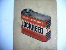 catalogue ancien LOCKHEED 1951 tarif  pièces outillage
