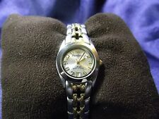 Woman's Amitron  Date Watch with Two Tone Band**New** B87-1091