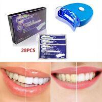 Hot GENKENT 28 x Teeth Whitening Strips Lamp Tooth UK Whitener Kit White Care UK