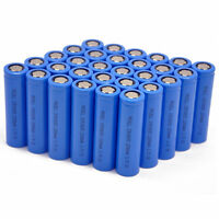 100Pcs 18650 Li-ion wiederaufladbare Batterie 3.7V 2200mAh Battery Cell Flat Top