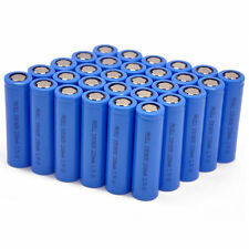 100 x ICR18650 Li-ion Rechargeable Batteries 3.7V 2200mAh Battery Cell Flat Top