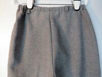 Vtg TAGLESS WOMENS GRAY ELASTIC WAISTBAND GLEN PLAID Pants 50s 60s 70s hipster