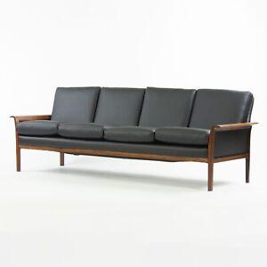 1960's Knut Saeter Rosewood Sofa Vatne Mobler Norway New Upholstery Hans Olsen