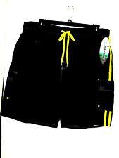 XXL LAGUNA black board swim shorts Knee Length Elastic Waist w/front tie msrp$40