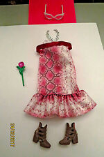 Neuve Tenue outfit fashion set ensemble BARBIE FASHIONISTAS PYTHON + cadeaux