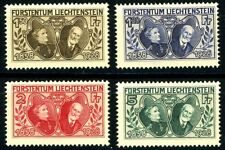 Liechtenstein Issues of 1928 4 Highest Denominations MNH Scott's 85 86 87 & 88