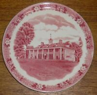 Jonroth Old English Staffordshire Ware Red Transfer Plate - Mount Vernon VA