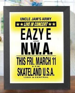 Eazy E and N.W.A. live at Skateland Los Angeles Concert flyer hip hop rap poster