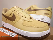 2003 NIKE AIR FORCE 1 NYC CORDUROY GOLD DUST/BISON-WHITE 306509-721 size 11