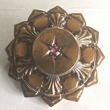 15ct  Gold Victorian Ruby Set Brooch