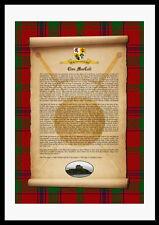 CLAN MACCOLL - Clan History, Tartan, Crest, Castle & Motto MOUNTED PRESENTATION