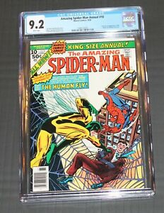 Amazing Spider-Man Annual #10 CGC 9.2 WHITE 1976 Human Fly Origin & 1st appear.