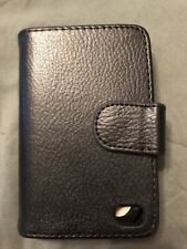 Brand New! Men's Black Flip Bifold Wallet-Cover For iPhone 4G/4GS