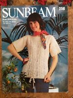 Womens knitting patterns.jumpers.size 32-38 inch bust.4 ply.Sunbeam Patterns.