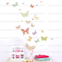 25 Beautiful Butterflies Wall Stickers Art Decal Baby Nursery Girls Room Decor