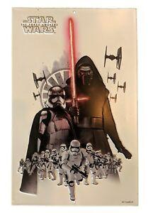 Star Wars The Force Awakens Star Wars Villains Metal tin Sign