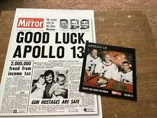 APOLLO 13 - EVENTS THAT SHOOK THE WORLD DVD & A4 FACT SHEET