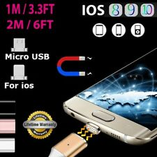 1M 2M Magnetic Micro USB/IOS Fast Charger Cable For iPhone 7 6 5 Samsung Android