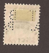 USA Perfin. BT PA (2 scans) Woodrow Wilson $1