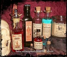 13 Poison Vintage Look Victorian Apothecary Labels Halloween/Steampunk/Primi tive