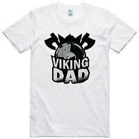 Mens Funny Slogan T-Shirt Viking Dad Great Birthday Gift Tee