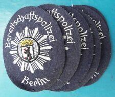 POLIZEI BERLIN altes Abzeichen Polizeiabzeichen Patch Stoffabzeichen 60 Jahre