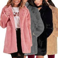 Winter Lady Womens Warm Long Faux Fur Coat Jacket Parka Outerwear Jacket Coat