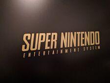 "SNES Super Nintendo Vinyl Sticker Decal Gloss Gold Metallic 8"" 1/2 inches by 2"""