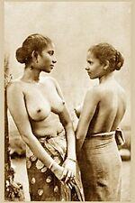 ETHNIC NUDE WOMAN VINTAGE TOPLES CEYLON INDIA GIRLFRIEND BREASTS SRI LANKA PHOTO