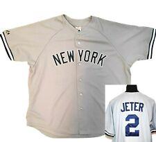 NY Yankees Derek Jeter Jersey 2XL Majestic Gray Men Authentic Vintage New York