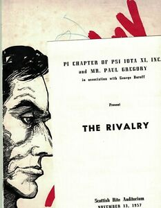 1957 The Rivalry Program and Book w/Agnes Moorehead and Raymond Massey EX