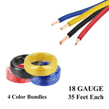 High Temp Automotive Copper Primary Wire 18 Gauge OFC Power Amp Cable 35 FEET EA