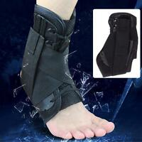 Medical Lace Up Ankle Brace Support Stabilizer Mild Sprains Safety Protection