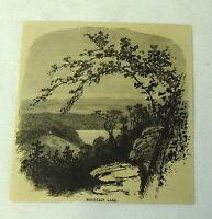 1880 magazine engraving ~ MOUNTAIN LAKE Bald Knob Virginia
