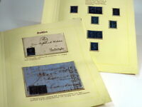 13 Stk BRIEFMARKE NEUGROSCHEN SACHSEN 1855 BfM Freimarken Briefstück NACHLASS