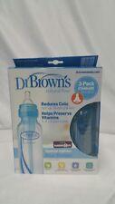 Dr. Brown's Bpa Free 8 Oz 3 Pack Bottles - Blue