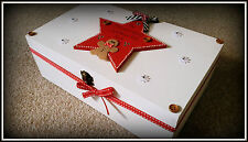 Personalised Christmas Eve Box Wood Large Xmas Present